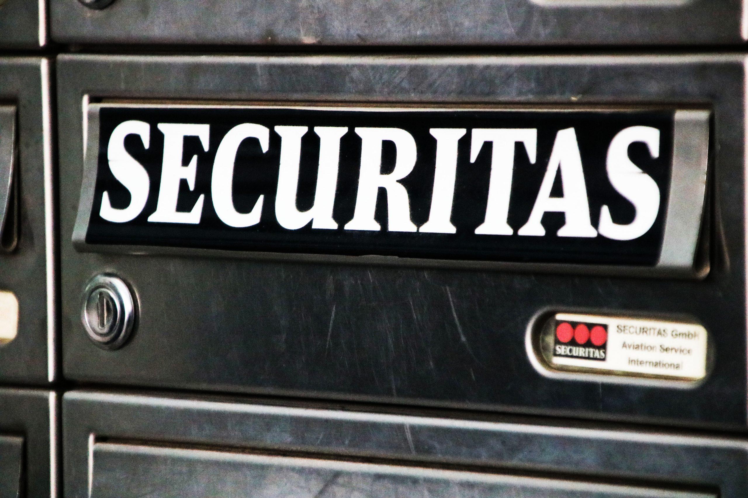 Securitas Stuttgart: Aktion vor der Geschäftsstelle am Flughafen