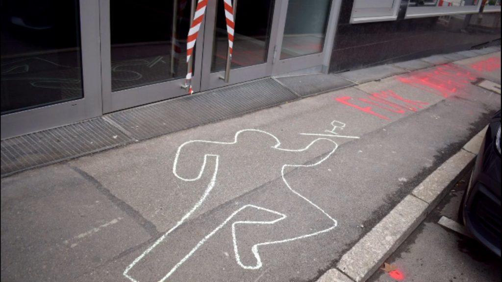 Tatort DEHOGA: Aktion vor dem Hotel- und Gaststättenverband in Stuttgart